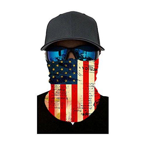 Bandana Headband American Mexican Flag Multifunctional Magic Handscarf Face Mask