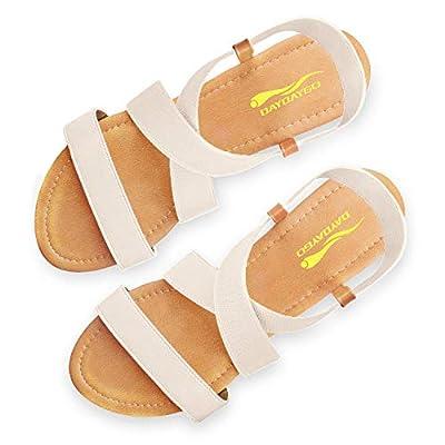 DAYDAYGO Women's Elastic Flat Sandals