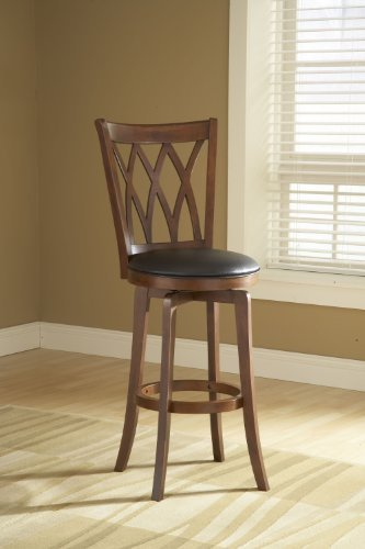 Hillsdale Furniture Mansfield Swivel Stool in Brown Cherry Bar Stool