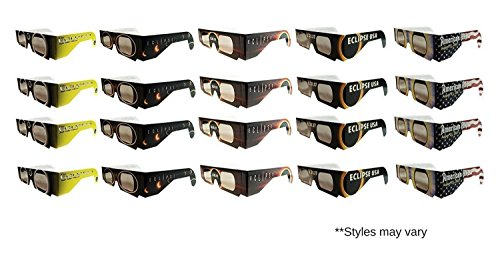 Eclipse Glasses - CE Certified Safe Solar Eclipse Glasses Eye Protection – 20pk Random - Eclipse Sunglasses Nasa