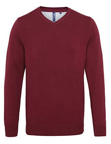 Cotton neck Fox Sweater Asquith V amp; Men's Red Homme Blend cherry Shirt 000 txfqx4wFY