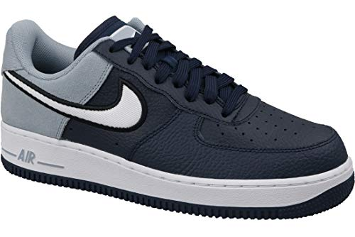 - Nike Mens Air Force 1 07 Leather Suede Navy Trainers 8 US