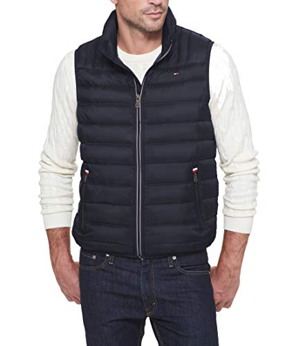 - Tommy Hilfiger Men's Big and Tall Lightweight Down Quilted Puffer Vest, Midnight 2X
