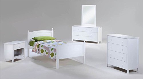 Licorice Bedroom Set in White by Night & Day Furniture