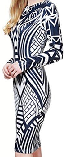 Dress Club Womens As Bodycon Stylish Long Bandage Night Sleeve Printed Picture Jaycargogo Slim qFW6vnnU
