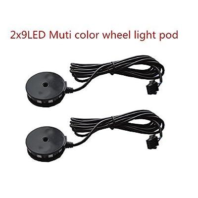 2pc LED Motorcycle Wheel Light Custom Glow Pod Accent Bike Light for motorcycle,ATV,Car,: Automotive