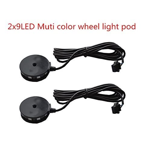 2pc LED Motorcycle Wheel Light Custom Glow Pod Accent Bike Light for motorcycle,ATV,