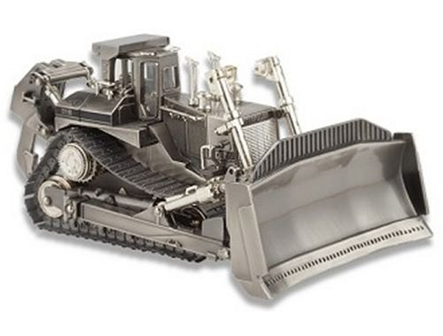 Caterpillar D11R Dozer with movable metal tracks, a dozer blade that tilts forward and backward - 1/50 Scale