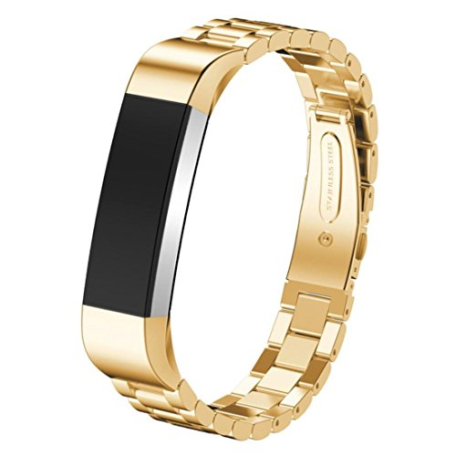 Percussion Replacement (Gotd New Replacement Accessory Stainless Steel Watch Band Wrist strap For Fitbit Alta HR Smart Watch (Gold))
