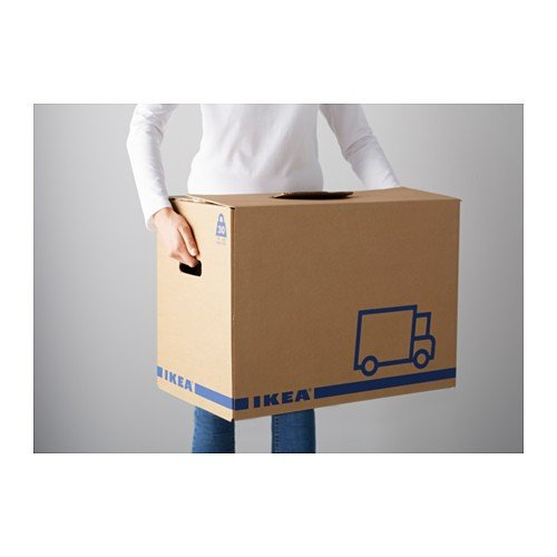 Ikea Jättene - Set de 2 cajas de mudanza (cartón ondulado, 56 x 33 x 41 cm, máx. 30 kg): Amazon.es: Hogar