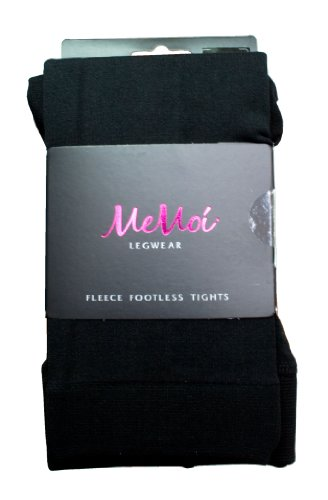 Cold Weather MeMoi Fleece Footless Tights (Small/Medium, Black)