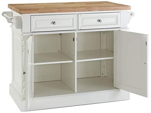Crosley Furniture Kitchen Island with Butcher Block Top - White by Crosley Furniture (Image #3)