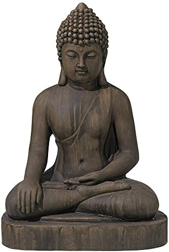 John Timberland Asian Zen Buddha Outdoor Statue 29 1/2″ High Sitting