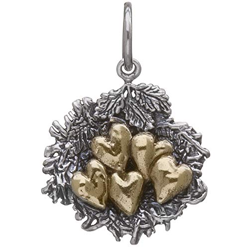 Waxing Poetic Sterling Silver Brass Bundled By Love Nest Charm