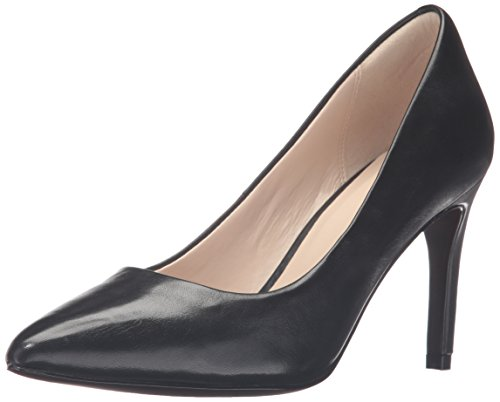 Cole Haan Women's Amelia Grand 85mm Dress Pump, Black Leather, 8 B US by Cole Haan