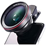 Phone Lens Kit,0.6X Super Wide Angle Optical Glass Lens With 15X Macro Lens-WENDSIM