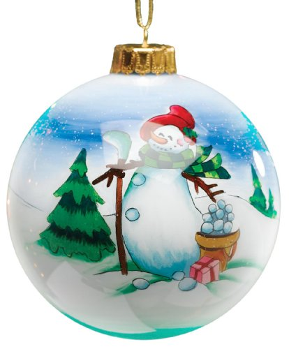 Golf Gifts & Gallery Clubhouse Collection Glass Snowman Golfer Ornament