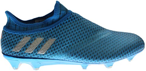Adidas Hommes Messi 16+ Pureagility Fg Football Taquets Shoc Bleu / Argent Métallique