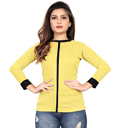 New Ethical Fashion Casual Regular Sleeve Solid Women Multicolor Top
