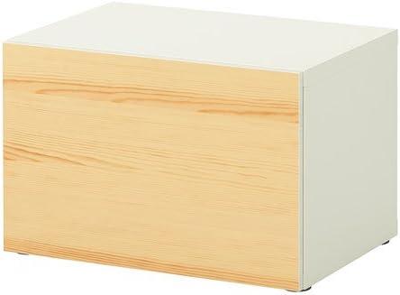 IKEA BESTA - Estantería con puerta, blanco, chapa de pino ...