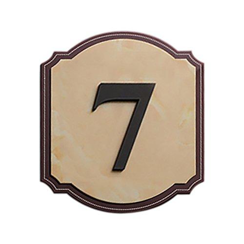 [해외]갈망 주문을 받아서 만들어진 아크릴 주소 표시 주문을 받아서 만들어진 집 호텔 방 번호 표시 벽 사인 대리석 패턴 A-12.2 \\ / Aspire Customized Acrylic Address Signs Customized House Hotel Room Number Sign Wall Sign-Marble Pattern A-12.2...