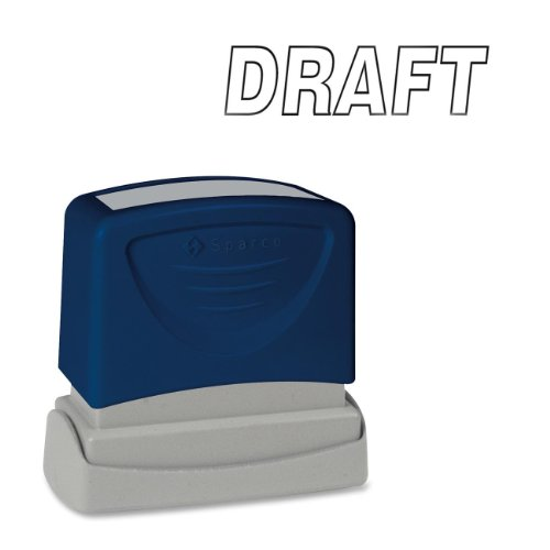 Sparco Draft Title Stamp, 1-3/4 x 5/8 Inches, Black Ink (SPR60016)