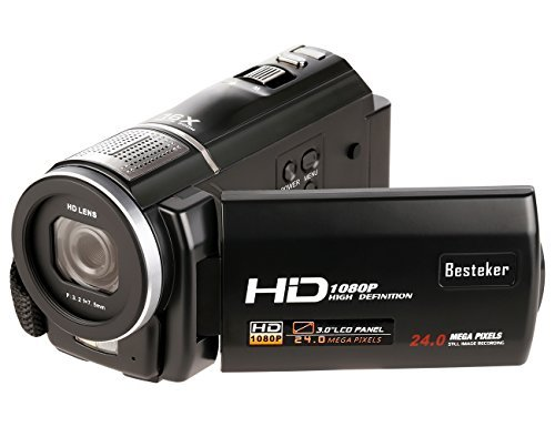 Video Camcorder, Besteker Portable 1080P HD Camera DV 3.0 In