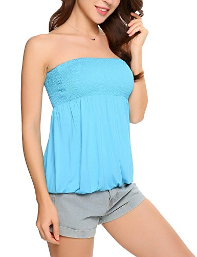 Pleated Strapless Top - 9