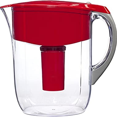 Brita 10 Cup Grand Water Pitcher with 1 Filter, BPA Free, Red