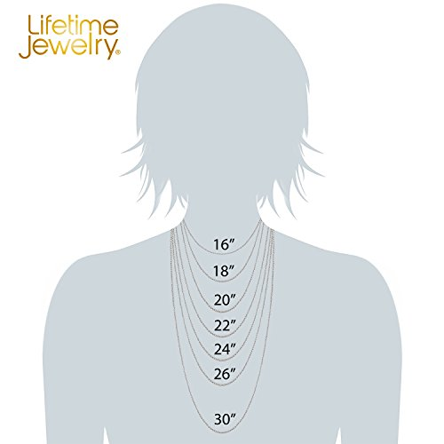 Lifetime Jewelry 1mm Rope Chain 24K White or Yellow Gold Plated Pendant Necklace for Men and Women Made Thin for Charms 16 to 30 Inches (20) by Lifetime Jewelry (Image #5)