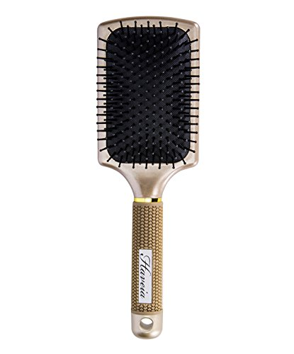 Hair Brush-Velvet Touch Paddle brush, Detangling Brush for Straightening & Smoothing Hair by Haveia(GOLD)