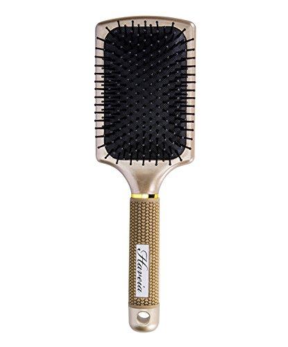 Hair Brush-Velvet Touch Paddle brush, Detangling Brush for Straightening & Smoothing Hair by Haveia(GOLD)
