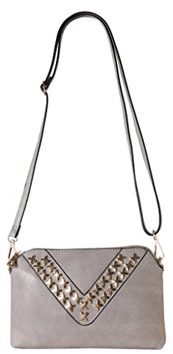 diophy-pu-leather-v-shape-studded-decor-womens-purse-cross-body-handbag-accented-with-removable-wris