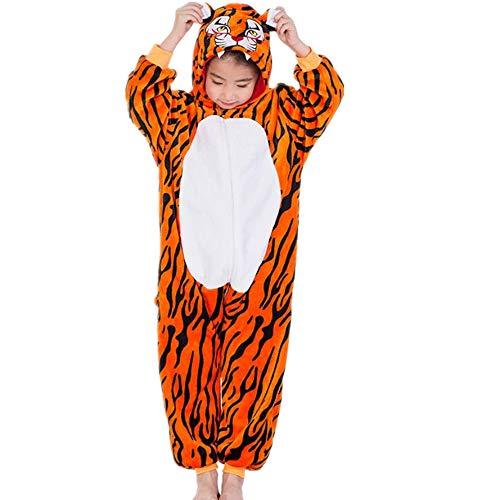 Boy Girl Christmas Halloween Cosplay Animal Costume Cartoon one-Piece Pajamas(Dark Yellow 110-for Height (100-110cm)