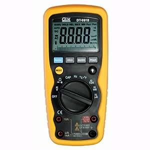 CEM DT-9918 impermeable multímetro Digital 40mF 760C Wide capacidad Range