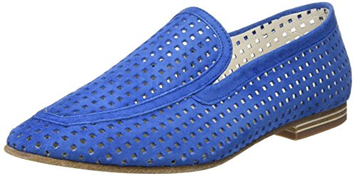 Lottusse S9473 Velour Denim Mocassins Bleu Femme Perf Loafer OORdqw