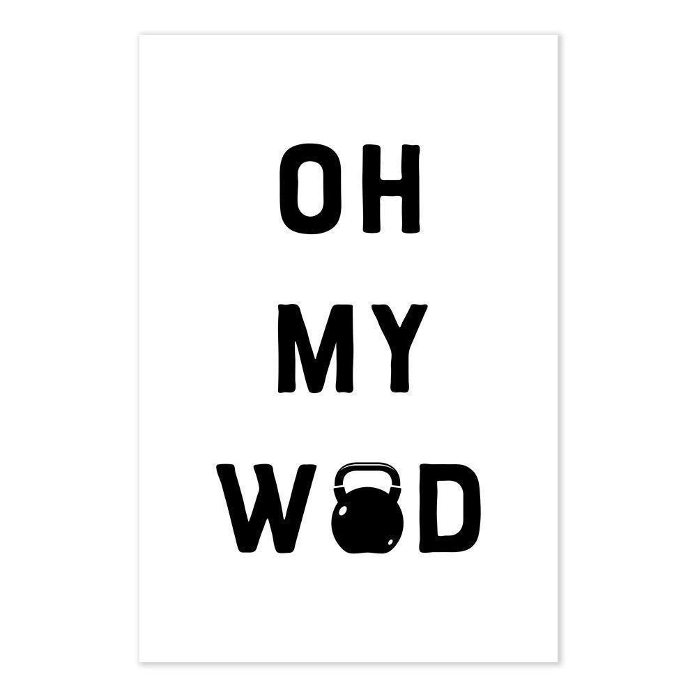 Amazon.com: Oh My WOD Funny Crossfit Workout Poster: Handmade