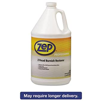 Zep Professional R03824 GreenLink Z-Tread Burnish Restorer, Mild Detergent  Fragrance, Clear (Case of 4 Gallons)