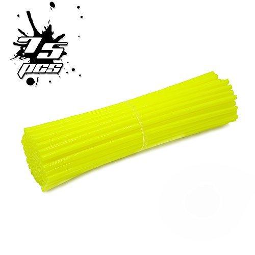 20,3- 53,3cm Llantas 75pcs continúa Skins/Cubiertas para todos los bicicleta y motocicleta, Amarillo fluorescente