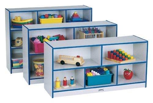 Rainbow Accents 0392JCWW003 Low Single Mobile Storage Unit, Blue