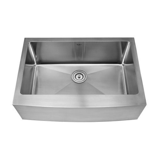 Kraus khf200 30 kpf1622 ksd30sn 30 inch farmhouse single bowl stainless steel kitchen sink with - Extra large farmhouse sink ...