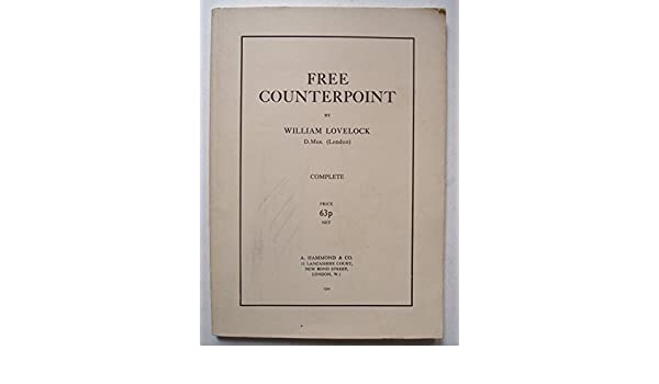 Free Counterpoint  Complete : William  LOVELOCK: Amazon com