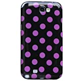 Huaqiang3c® FREE USPS SHIPPING Black Pink Polka Dots Soft TPU Case Cover for Samsung Galaxy Note II 2 N7100