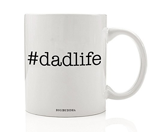Gifts For Dad Dadlife Quote Mug Best Fathers Day New Daddy Papa Coed Baby Shower Present Men Guys Hero Christmas Birthday Him From Son Daughter