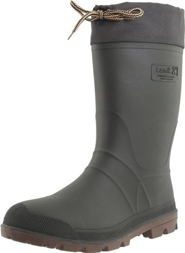 Kamik Men's Icebreaker Cold Weather Boot,Khaki/Brown,12 M - Mens Rubber Insulated