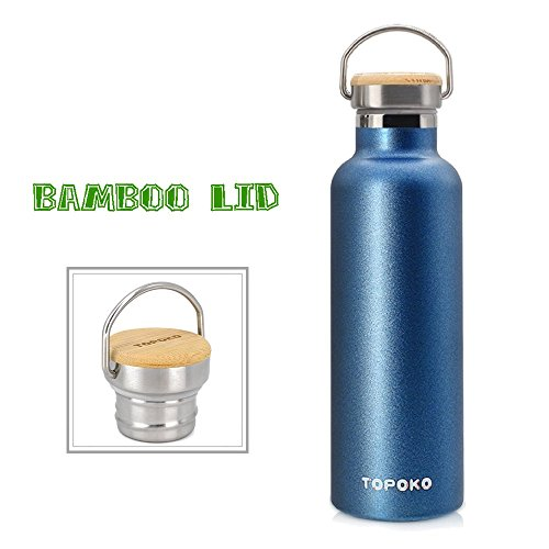 TOPOKO 25 oz Stainless Steel Vacuum Insulated Water Bottle,