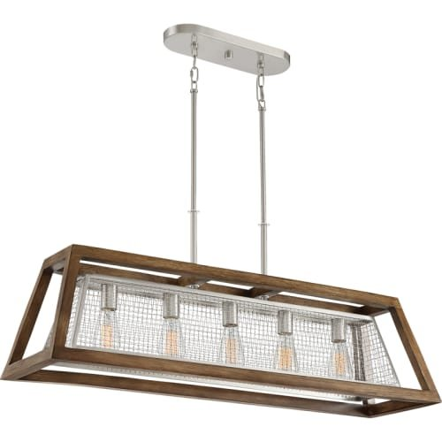 Quoizel CTY542BN Courtyard Island Chandelier Light Quoizel Wood Chandelier