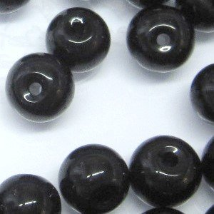 A3635 200 pieces 4mm Crystal Glass Round Beads Black