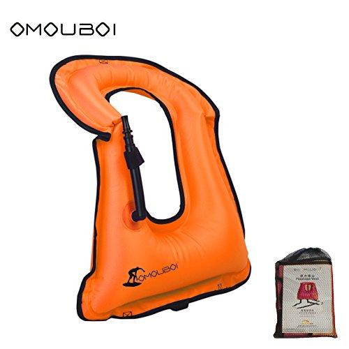 SUNNY LIFE JACKETS Life Jackets Omouboi Unisex Child Inflatable Snorkel Vest Snorkel Jacket Free Diving Safety Jacket Life