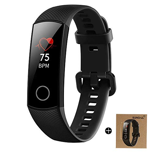 HUAWEI Honor Band 4 6-Axis Inertial Heart Rate Monitor Infrared Light Wear Detection Sensor Full Touch AMOLED Color Screen Home Button All-in-One Activity Tracker 5ATM -